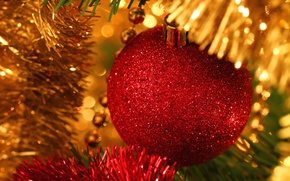 Picture holiday, balls, tree, tinsel