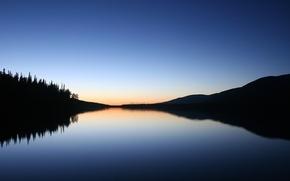 Wallpaper lake, reflection, shadow, Minimalism