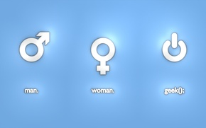 Picture woman, technology, male