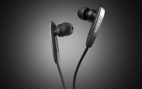 Picture headphones, black, SONY