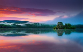 Picture sunrise, Melrose, New York., Tomhannock reservoir