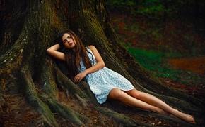 Wallpaper Girl, Sexy, Beauty, Eyes, Woman, Mood, Forest, Russian, Portrait, Katya, Woman, Imwarrior