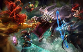 Picture the game, fight, art, event, League of Legends