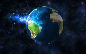 Wallpaper graphics, planet, the globe, space, Earth
