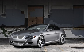 Picture wall, tuning, bmw, BMW, silver, silver, wall, wheels, drives, e63