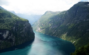 Picture landscape, norway, fjord