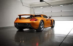 Picture Porsche, Orange, Carrera, Supercar, Garage, Exotic, Borealis, Rear, Ligth, Nigth, Arancio