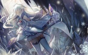 Picture girl, anime, art, Emilia, Re: Zero kara hajime chip isek or Seikatsu