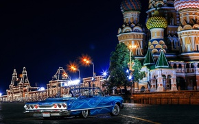 Picture auto, Moscow, Chevrolet, Chevrolet, russia, moscow, Impala, 1963, swag, Ola De Blue