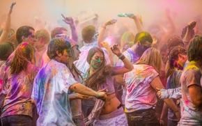 Wallpaper color, mood, paint, holiday, parade