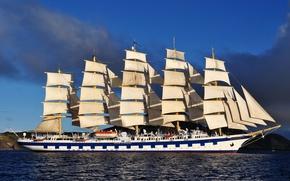 Picture sea, photo, ship, sailboat, Royal Clipper