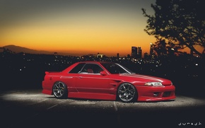 Picture nissan, red, skyline, japan, jdm, tuning, gtr, r32, nismo