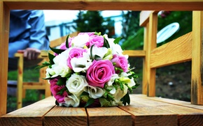 Picture flowers, wedding, roses, wedding bouquet