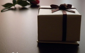 Picture macro, love, box, gift, the inscription, love, recognition, feeling, 14 Feb, Valentine's day, packaging
