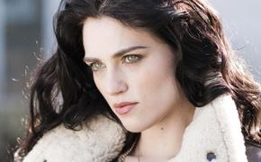 Picture look, girl, portrait, actress, hair, Katie McGrath, Katie McGrath