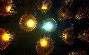 Picture rays, light, lights, lantern