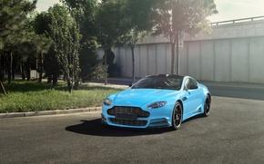 Picture Vantage, Aston, Martin, Car, Blue, Mansory
