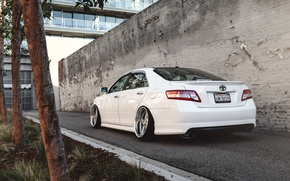Picture white, Toyota, Toyota, Camry, stance, Camry