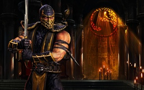 Wallpaper Scorpio, Mortal Kombat, ninja
