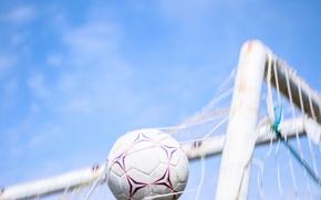 Picture football, the ball, gate