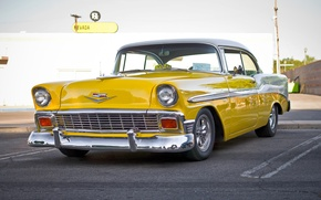 Picture Chevrolet, Bel Air, Chevy, the front, 1956