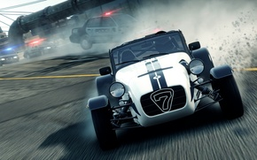 Picture the city, race, chase, need for speed most wanted 2, Lotus caterham seven superlight r500