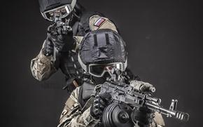 Picture helmet, special forces, Kalashnikov, airsoft, stritbola team, knight