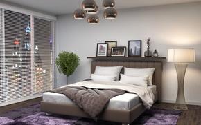 Picture Design, Carpet, Bed, Interior, Bedroom
