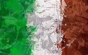 Wallpaper paint, flag, Italy, Italy