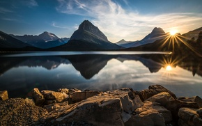 Picture landscape, mountains, nature, lake, reflection