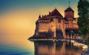 Picture Switzerland, Lake Geneva, castle Chillion