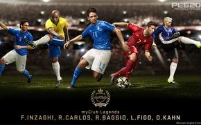 Picture Legends, Carlos, Kahn, Baggio, Update, PES 2016, MyClub, Figo, inzaghi