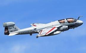 Picture EA-6B, the plane, the sky, deck, Grumman, Prowler