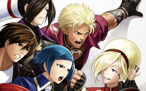 Picture the game, art, guys, king of fighters xiii