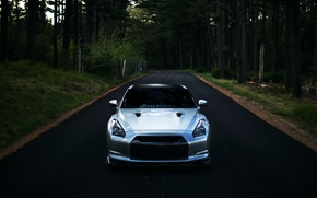 Picture GTR, Nissan, wheels, sports car, Nissan, front, stance