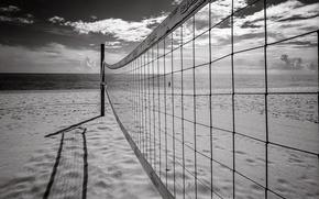 Wallpaper beach, mesh, sport, sea