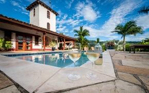 Picture wine, pool, Nicaragua, ., San Juan Del Sur, Rivas, Hacienda Na Xamena
