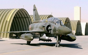 Picture hangars, Mirage 2000, French multi-role fighter of the fourth generation, assault Aviation
