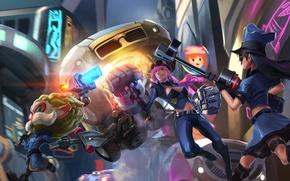 Picture lol, League of Legends, Caitlyn, Sheriff of Piltover, Piltover Enforcer, Revered Inventor, Heimerdinger