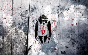 Picture vector, vector, art, monkey, wallpaper, monkeys, style, grey, art, grunge, monkeys, monkeys