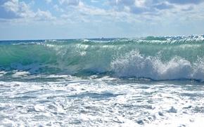 Picture sea, wave, landscape, storm, element