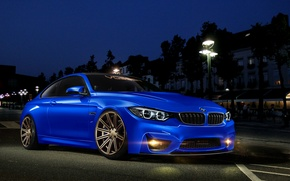 Picture BMW, blue, front, 4 Series