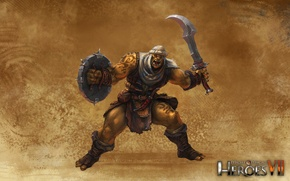 Picture Sword, Orc, Shield, Might & Magic 7, Heroes of might and magic 7, Rebellious tribes
