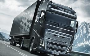 Picture Volvo, 2012, tractor, semi, 4x2, FH16 750