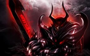 Picture warrior, dark, sword, warrior