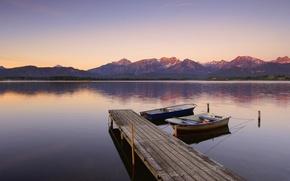 Wallpaper boats, lake, Germany