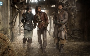 Picture The series, The Musketeers, The Musketeers, Tom Burke, Luke Pasqualino, Santiago Cabrera