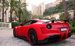 Picture Ferrari, Red, Monaco, Berlinetta, F12, Novitec Rosso, N-Largo