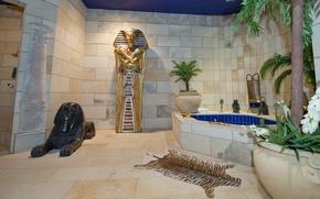 Picture design, house, style, room, Villa, interior, bathroom, Interier, egyptian bath