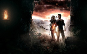 Wallpaper square enix, Uncharted, xbox, lara croft, Naughty Dog, nathan drake, sony, Uncharted 4: A Thief's ...